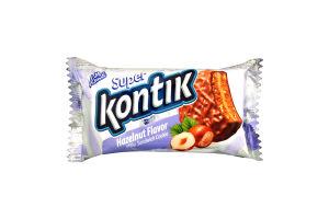 Печенье-сэндвич со вкусом фундука молочный Супер-Контик Konti м/у 100г