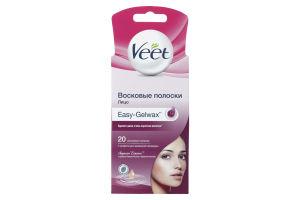 Полоски восковые для депиляции чувствительных участков лица Veet 20шт