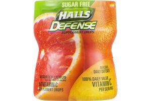 Halls Defense Vitamin C Supplement Drops Sugar Free - 50 CT