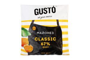 """Майонез Gusto """"Класичний"""" 67% жиру 350г ф/п"""