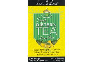 Laci Le Beau Super Dieter's Tea Lemon Mint Tea Bags - 30 CT