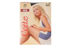 Колготки жіночі Conte Solo 20den 4-L nero