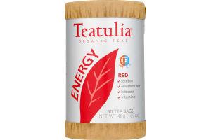 Teatulia Organic Teas Energy Red Tea Bags - 30 CT