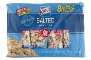 Lance On-The-Go Packs Salted Peanuts - 8 CT