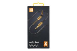 Кабель Audio 1.2м чорний Luxe Cube 1шт