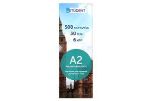 Карточки для изучения английского языка A2 Pre-Intermediate Student 500шт
