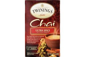 Twinings of London Chai Ultra Spice Tea - 20 CT