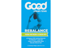 Good Clean Love Rebalance Personal Moisturizing & Cleansing Wipes - 12 CT