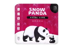 Бумага туалетная 4 слоя Aroma Extra care Snow panda 4шт