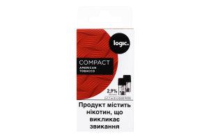 Картридж 2.9% American Tobacco Compact Logic 2шт