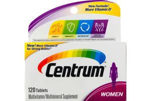 Centrum Women Multivitamin Tablets - 120 CT