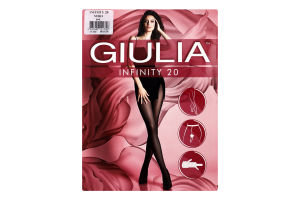 Колготки жіночі Giulia Infinity 20den 4-L nero