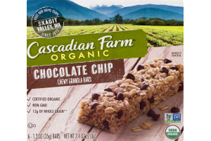 Cascadian Farm Organic Chewy Granola Bars Chocolate Chip - 6 CT