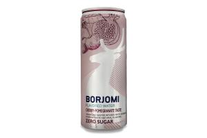 Напій безалкогольний сильногазований Cherry-pomegranate Flavored water Borjomi з/б 0.33л