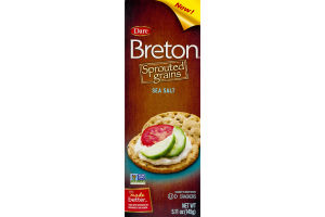 Dare Breton Sprouted Grains Crackers Sea Salt