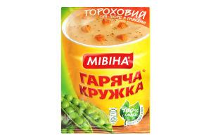 Суп-пюре швидкого приготування Гороховий з грінками Гаряча кружка Мівіна м/у 19г