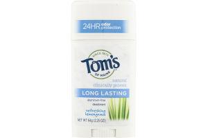 Tom's Of Maine Deodorant Refreshing Lemongrass