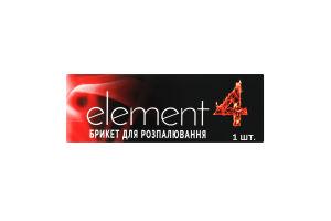 Брикет для розпалювання Element 4 1шт