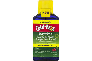 Children's Cold-Eeze Daytime Cough & Chest Congestion Relief Multi-Syptom Cherry