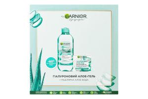 Набір косметичний Гель для обличчя+міцелярна вода Алое Skin Natural Garnier 1шт