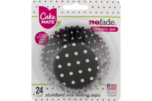 Cake Mate No Fade Baking Cups Metallic Dot Standard Size - 24 CT