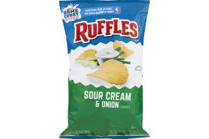 Ruffles Potato Chips Sour Cream & Onion