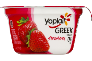 Yoplait Greek Fat Free Yogurt Strawberry