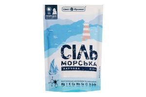Сіль морська харчова біла ЦветАромат д/п 200г