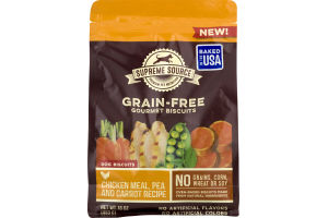 Supreme Source Dog Biscuits Grain-Free Gourmet Biscuits Chicken Meal, Pea And Carrot Recipe