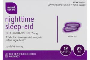 Smart Sense Nighttime Sleep-Aid Softgels - 12 CT