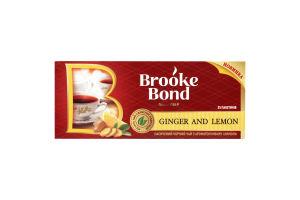 Чай Brooke Bond Ginger Lemon з ароматом імбиря та лимону 24пак.UA38г