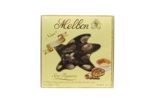 Конфеты шоколадные с начинкой крем-брюле Морские фигурки Melbon к/у 250г
