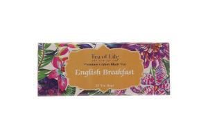 Чай черный Tea of Life English breakfast мелколист