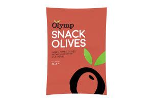 Оливки Olymp перец чили-трави зеленые б/косточки