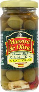 Оливки з кісточкою Spanish style Maestro de Oliva с/б 240г