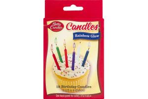 Betty Crocker Birthday Candles Rainbow Glow - 12 CT