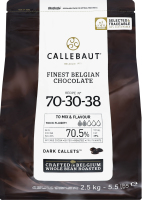 Шоколад 70.5% екстра темний Callebaut м/у 2.5кг