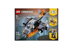 Конструктор для детей от 6лет №31111 Cyber Drone Creator Lego 1шт