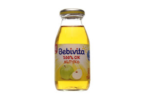 Сік для дітей від 4міс Яблуко Bebivita с/пл 0.2л