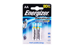 БАТАРЕЙКИ ENERGIZER MAXIMUM AA LR6 2ШТ.
