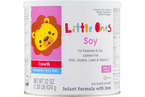 Little Ones Soy Infant Formula With Iron Birth - 12 Months