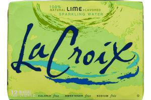 La Croix Sparkling Water Lime - 12 CT