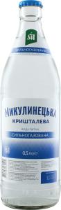 Вода питна сильногазована кришталева Микулинецька с/пл 0.5л