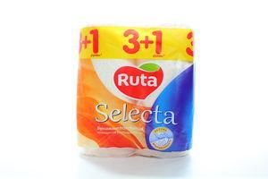 Полотенца бумажные Selecta универсальные Рута 4шт