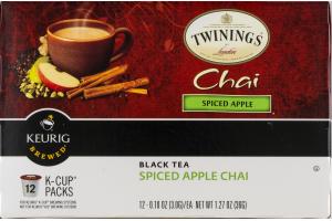 Twinings Of London Keurig Brewed Black Tea Spiced Apple Chai - 12 CT