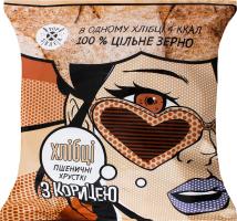 Хлібці хрусткі пшеничні з корицею Pop Snack м/у 30г