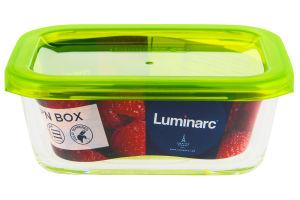 Ємність для їжі прямокутна 370мл Lum. Keep'n Box G8402