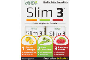Nature's Science Slim 3 3-in-1 Weight-Loss Formula Dietary Supplement Caplets - 84 CT