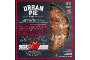 Urban Pie Pizza Co. Mission District Pizza Uncured Pepperoni & Sliced Chicken Sausage