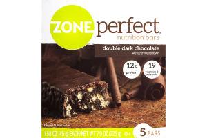 Zone Perfect Nutrition Bars Double Dark Chocolate - 5 CT